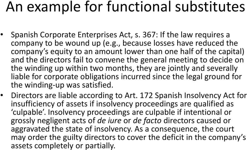 months, they are jointly and severally liable for corporate obligations incurred since the legal ground for the winding-up was satisfied. Directors are liable according to Art.