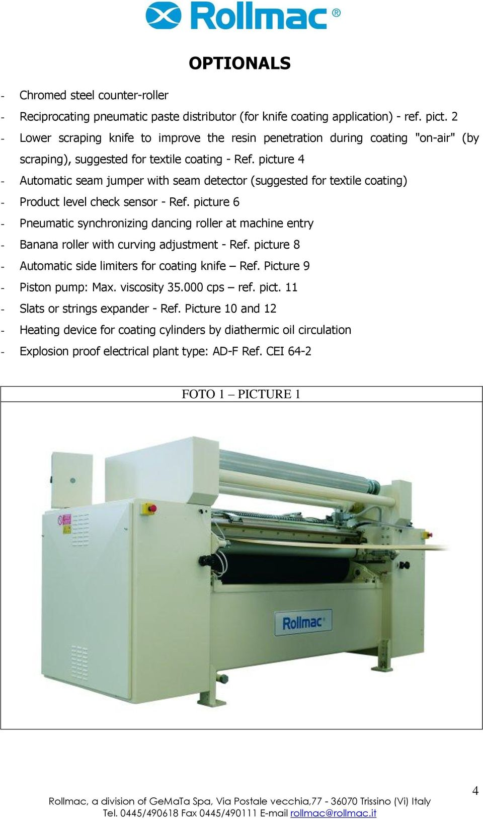 picture 4 - Automatic seam jumper with seam detector (suggested for textile coating) - Product level check sensor - Ref.