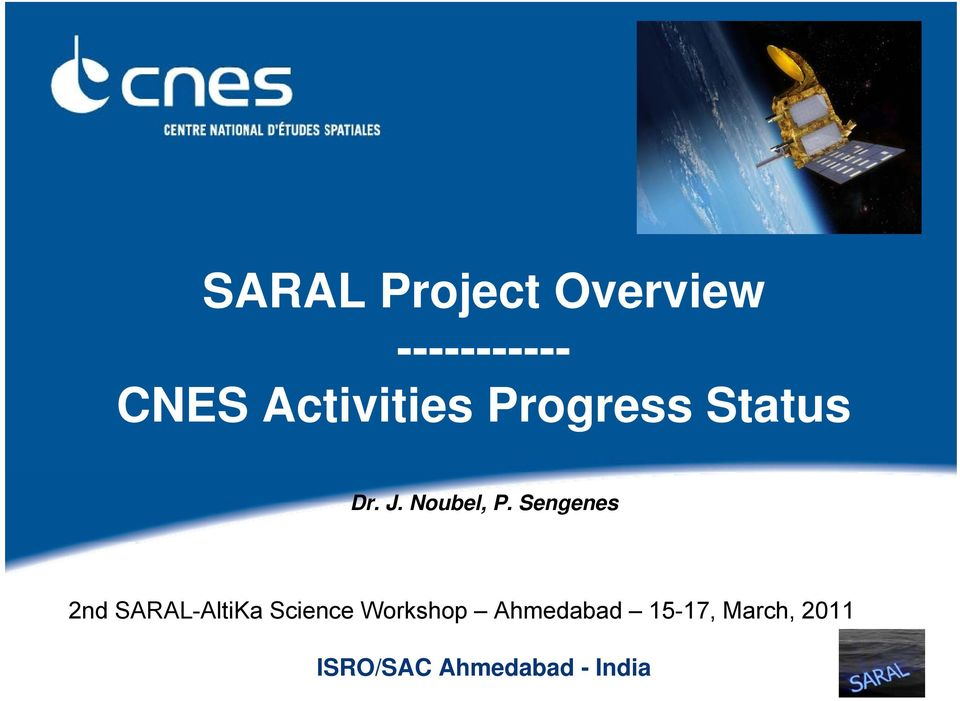 Sengenes 2nd SARAL-AltiKa Science Workshop