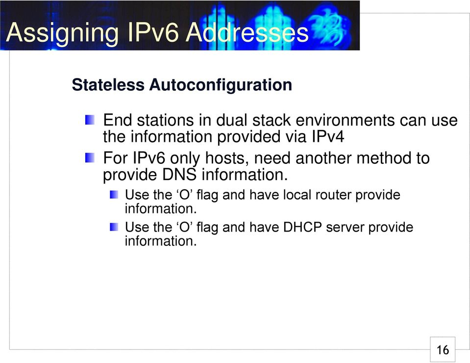 method to provide DNS information.