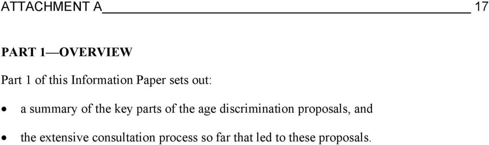 parts of the age discrimination proposals, and the