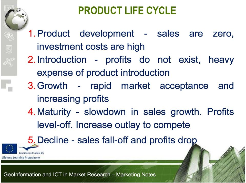 Growth - rapid market acceptance and increasing profits 4.