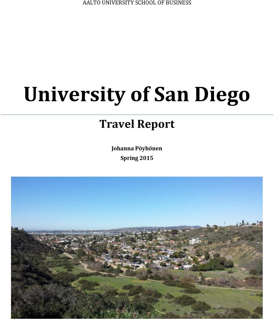 San Diego Travel Report