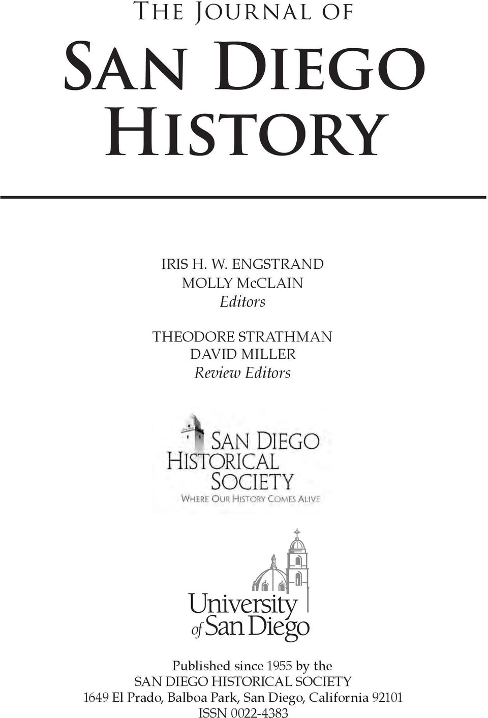 MILLER Review Editors Published since 1955 by the SAN DIEGO