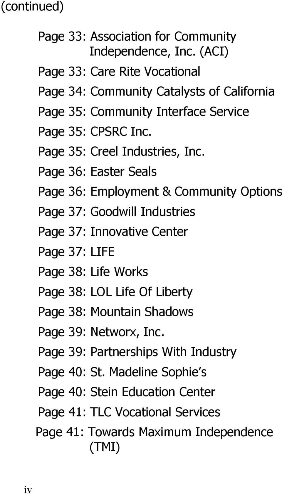 Page 35: Creel Industries, Inc.