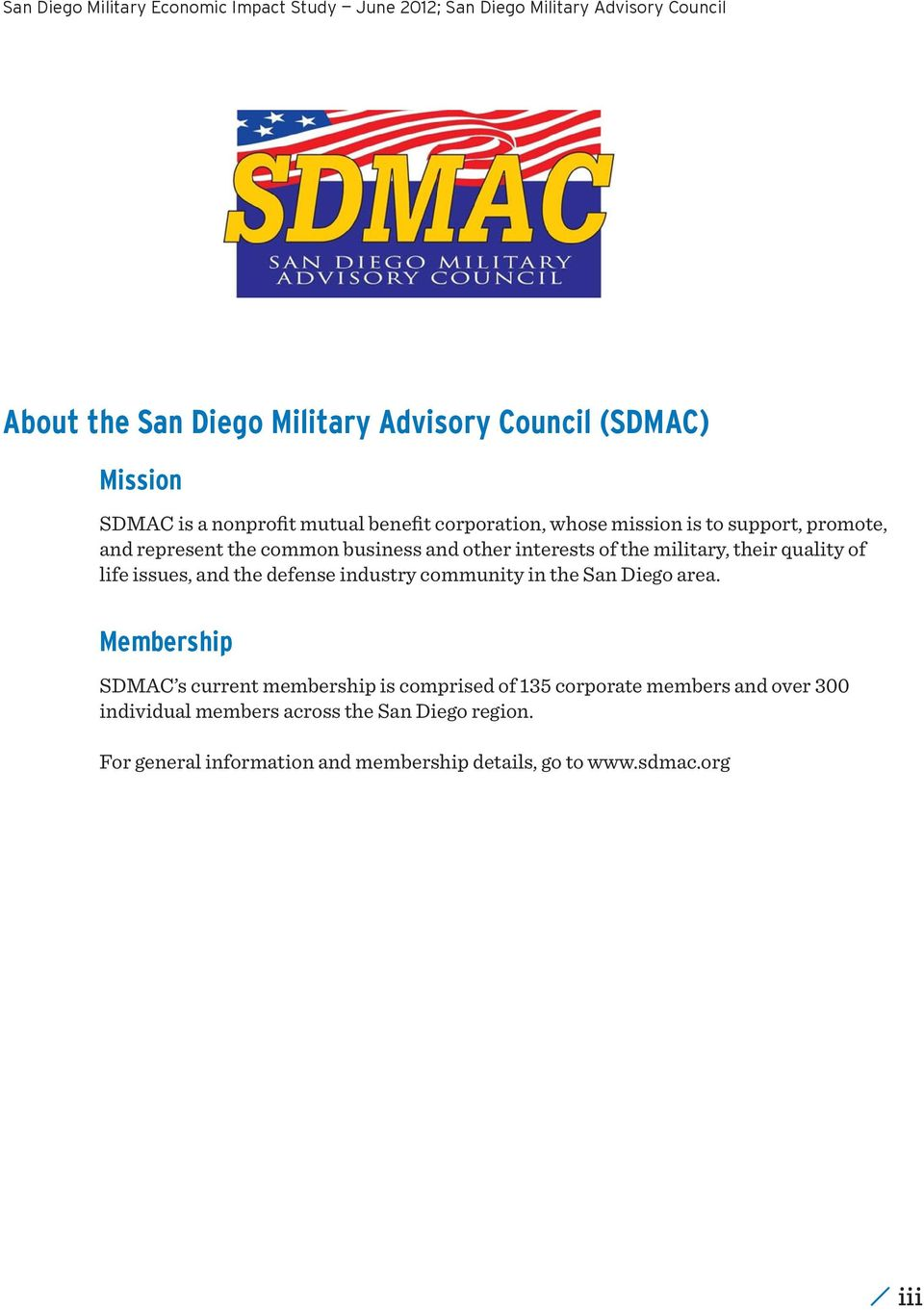 the defense industry community in the San Diego area.