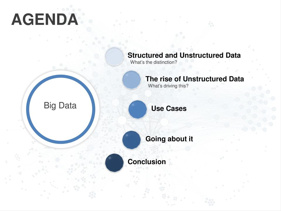 The rise of Unstructured Data What s