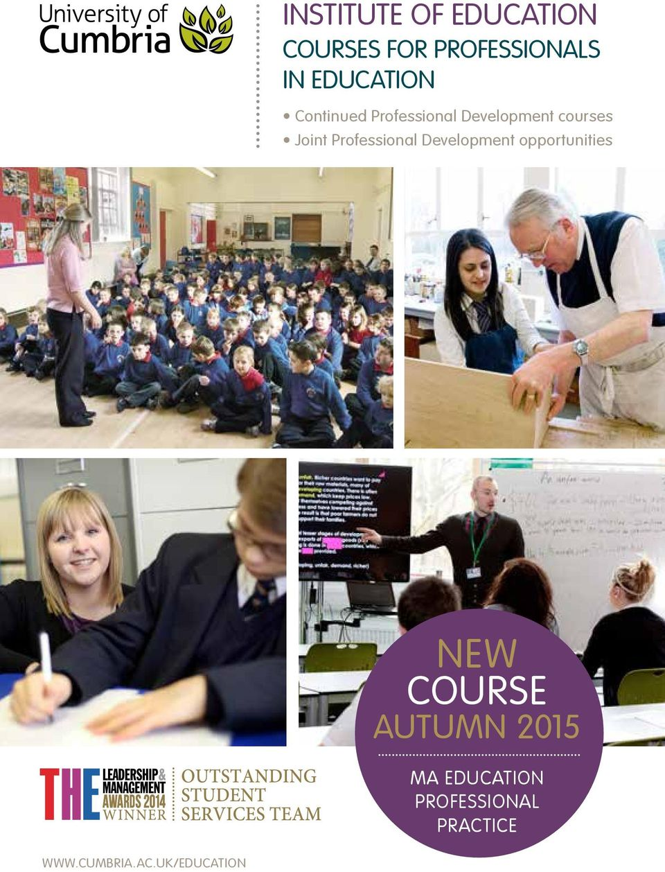 Professional Development opportunities NEW COURSE AUTUMN