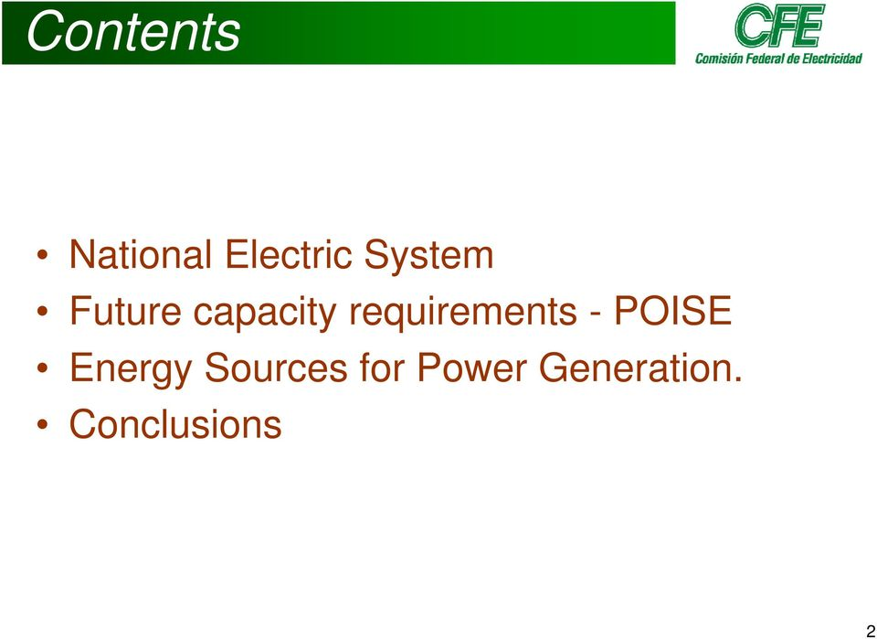 requirements - POISE Energy