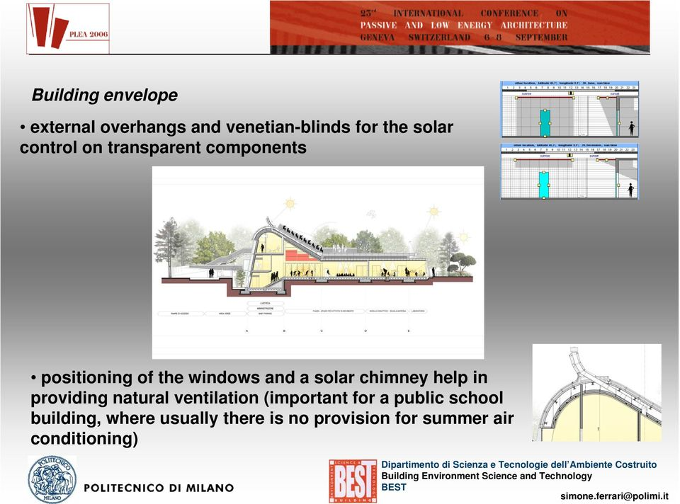 chimney help in providing natural ventilation (important for a public