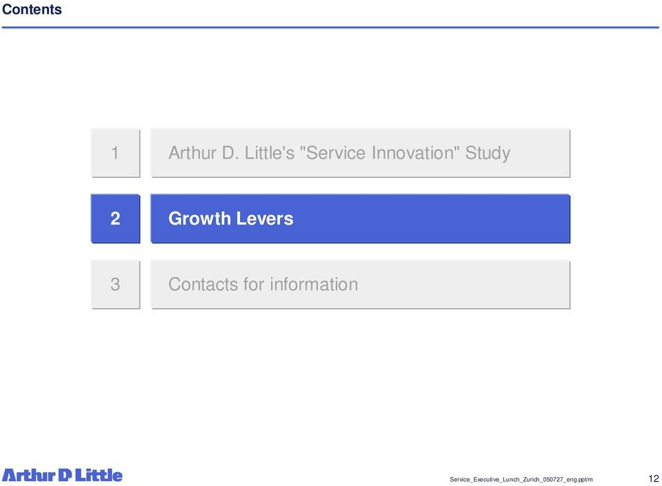 Growth Levers 3 Contacts for