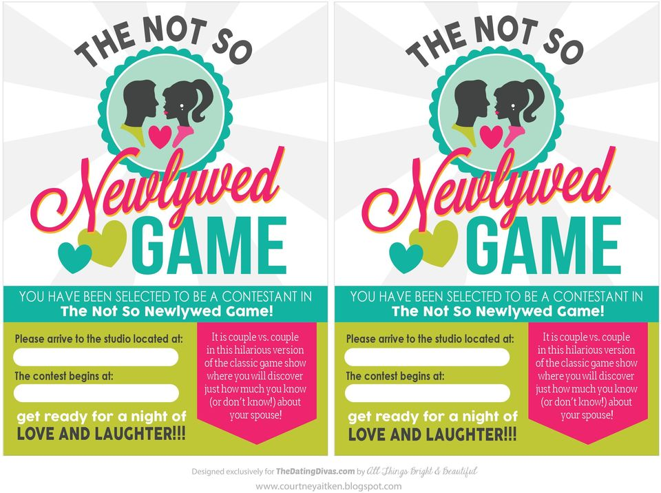 couple in this hilarious version of the classic game show where you will discover just how much you know (or don t know!) about your spouse!