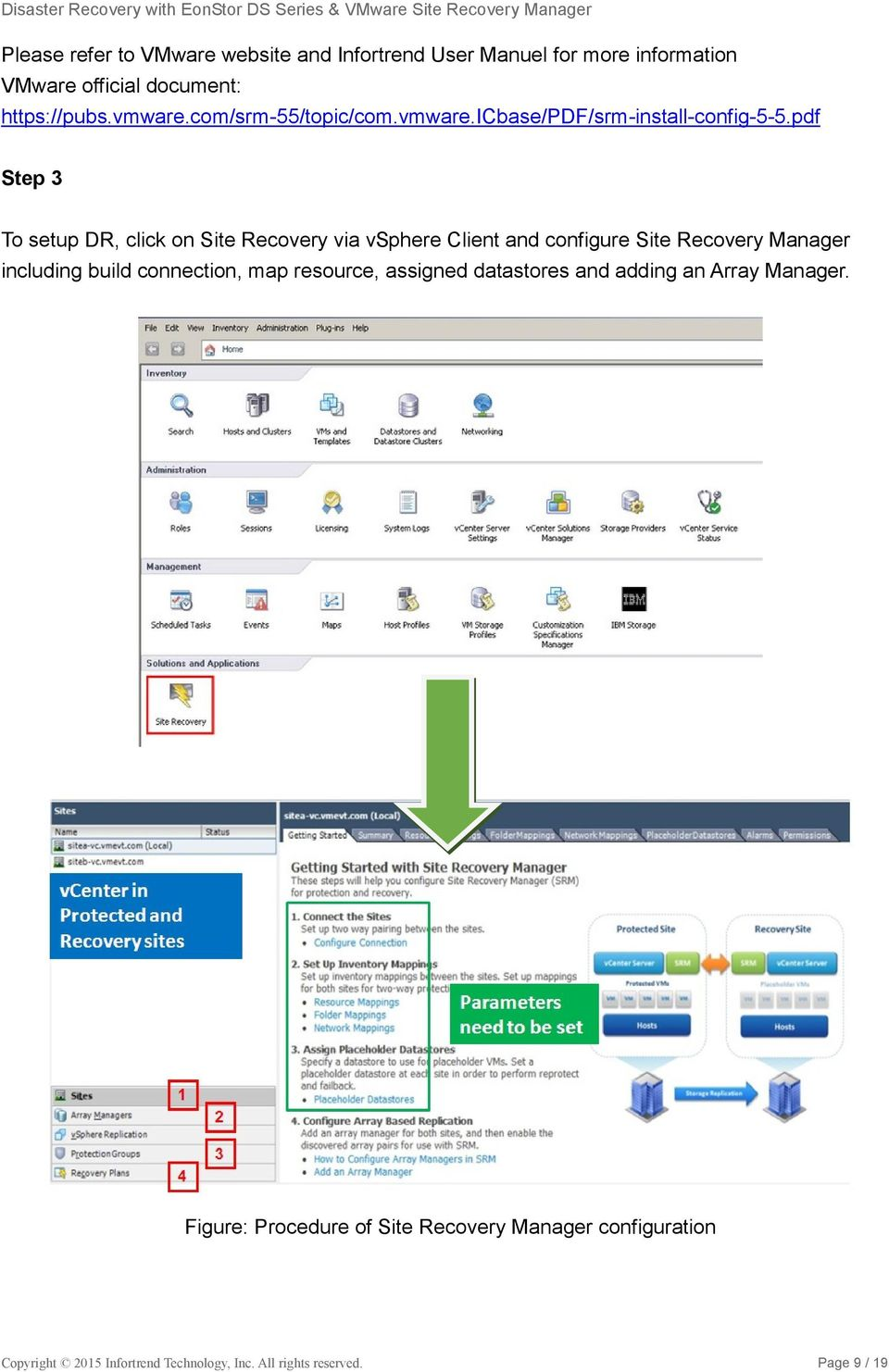 pdf Step 3 To setup DR, click on Site Recovery via vsphere Client and configure Site Recovery Manager including build