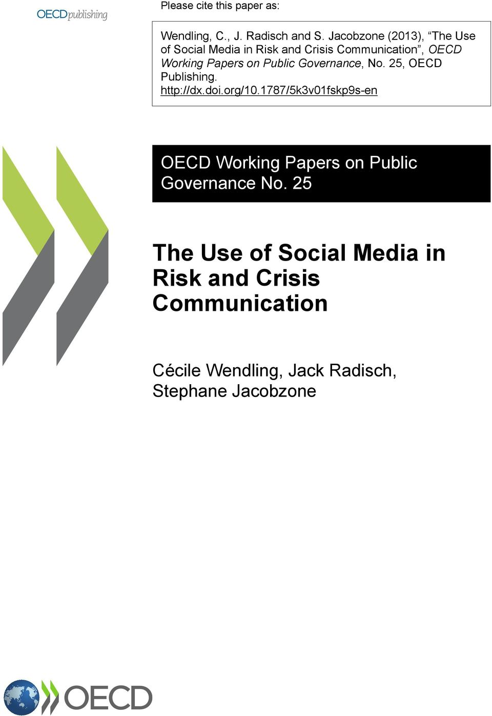 Public Governance, No. 25, OECD Publishing. http://dx.doi.org/10.