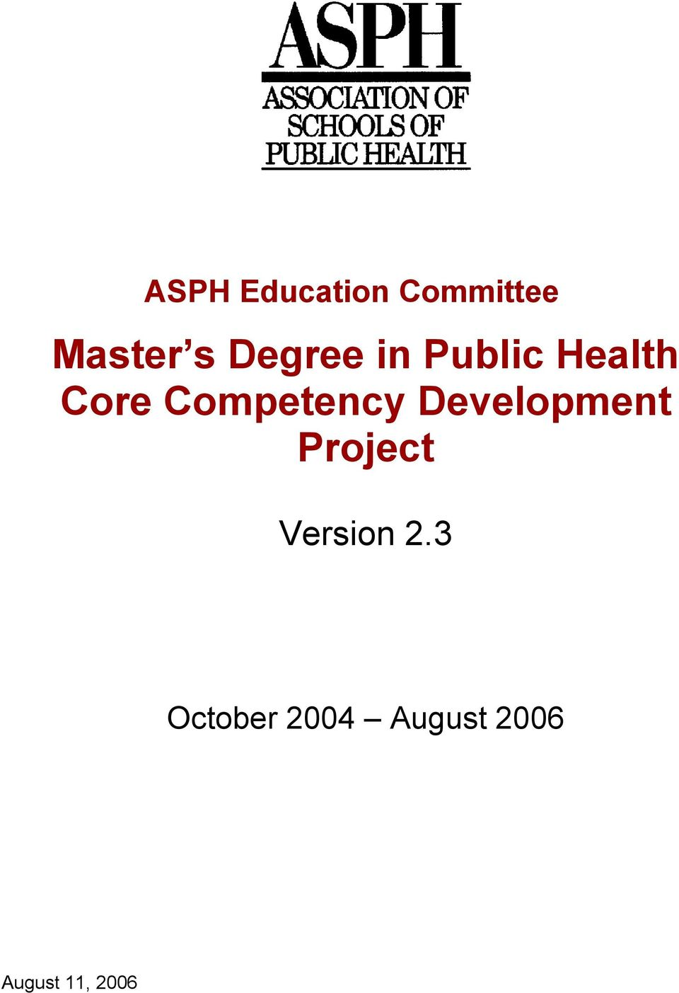 Competency Development Project