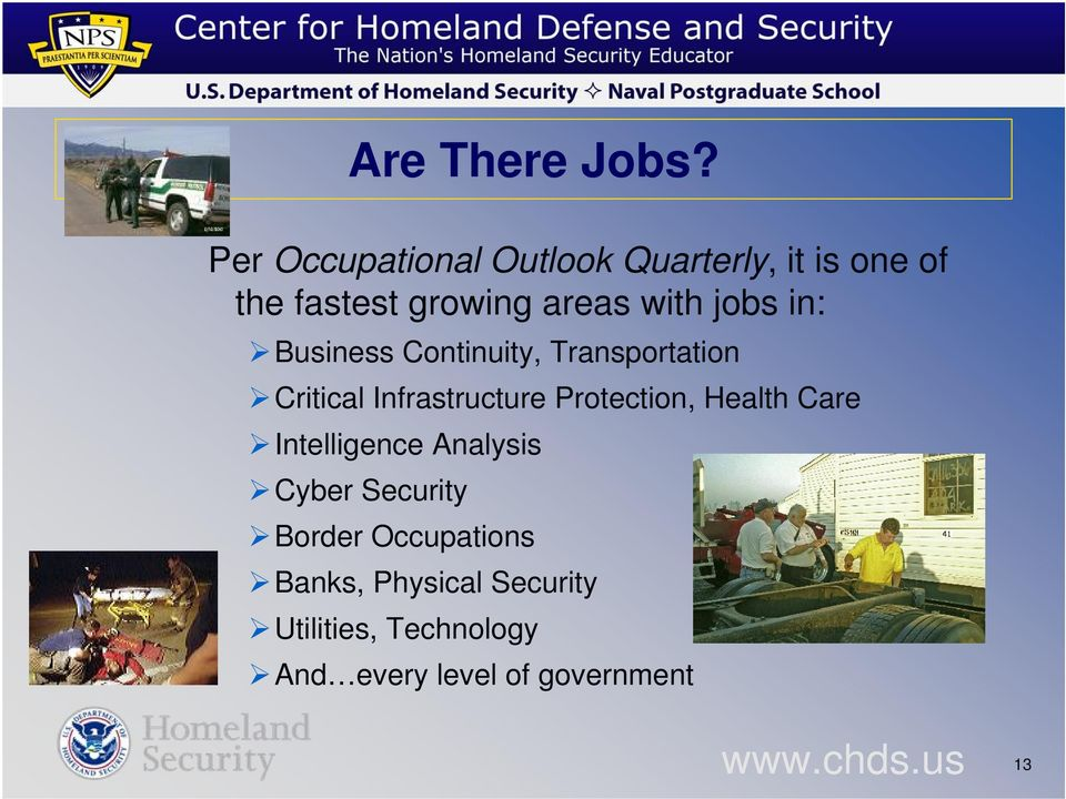 jobs in: Business Continuity, Transportation Critical Infrastructure Protection,