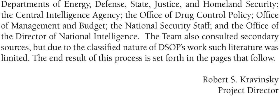 National Intelligence.