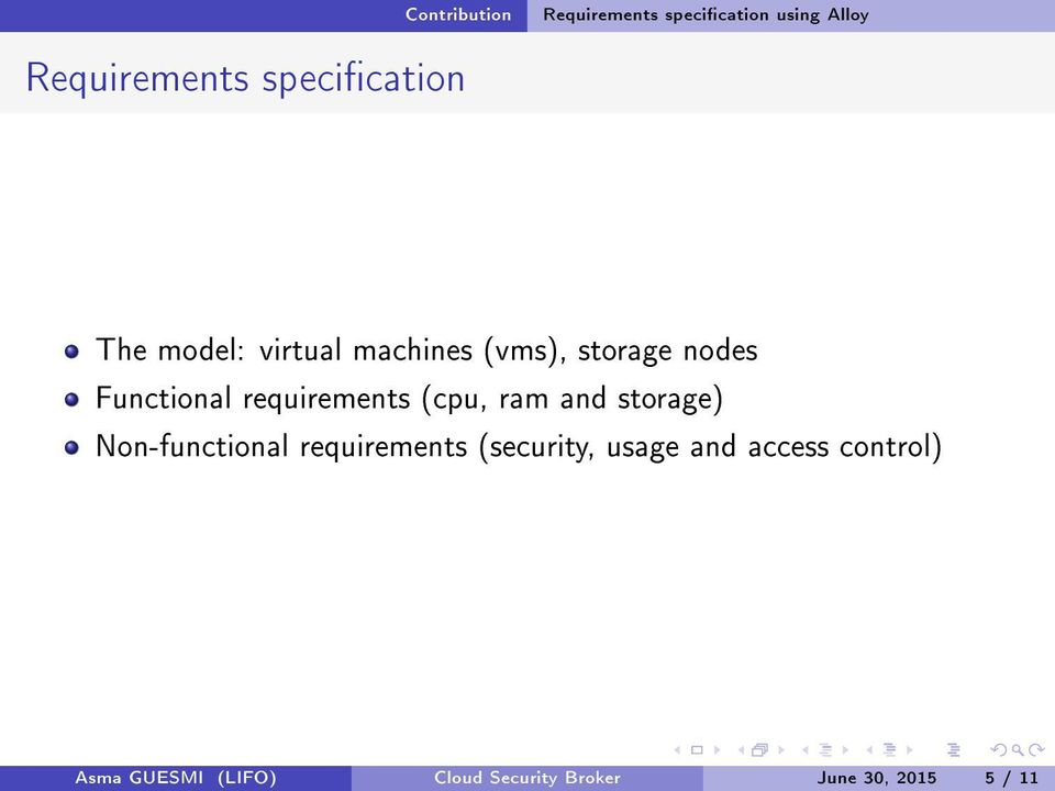 (cpu, ram and storage) Non-functional requirements (security, usage