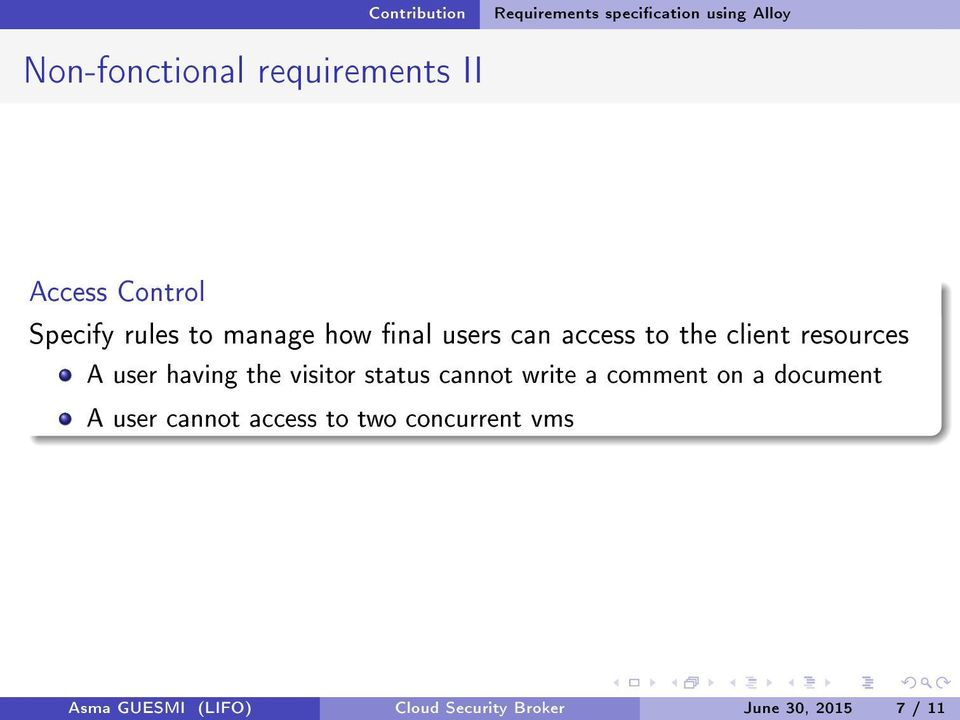 having the visitor status cannot write a comment on a document A user cannot