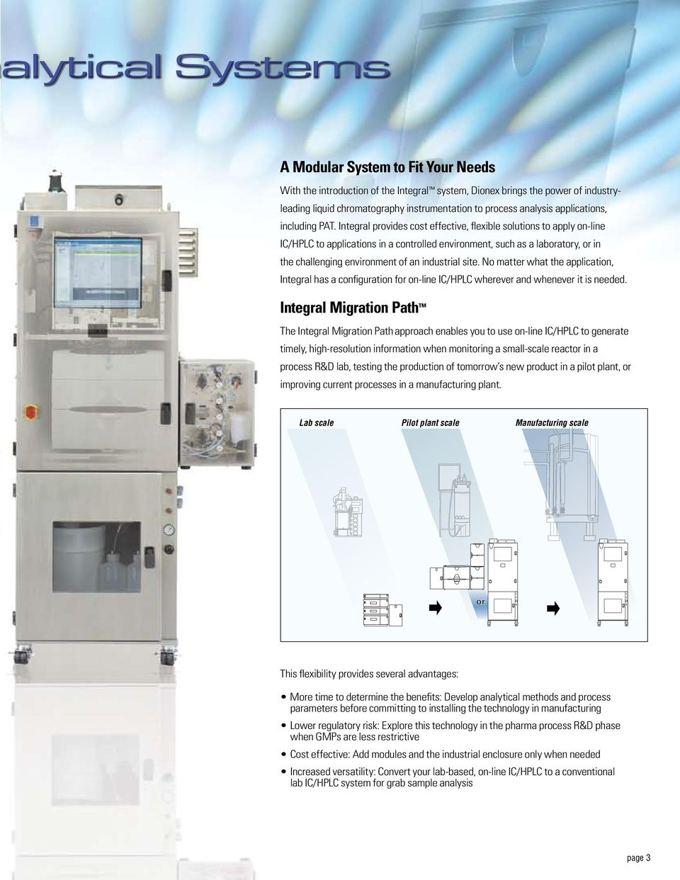 Integral provides cost effective, flexible solutions to apply on-line IC/HPLC to applications in a controlled environment, such as a laboratory, or in the challenging environment of an industrial