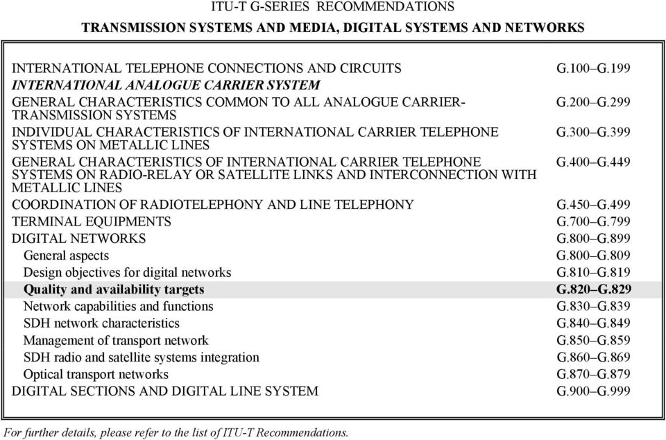 CARRIER TELEPHONE SYSTEMS ON RADIO-RELAY OR SATELLITE LINKS AND INTERCONNECTION WITH METALLIC LINES COORDINATION OF RADIOTELEPHONY AND LINE TELEPHONY TERMINAL EQUIPMENTS DIGITAL NETWORKS General