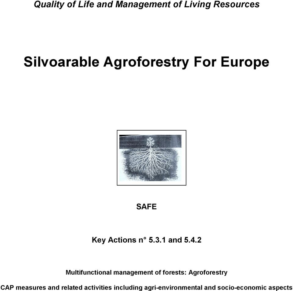 2 Multifunctional management of forests: Agroforestry CAP measures