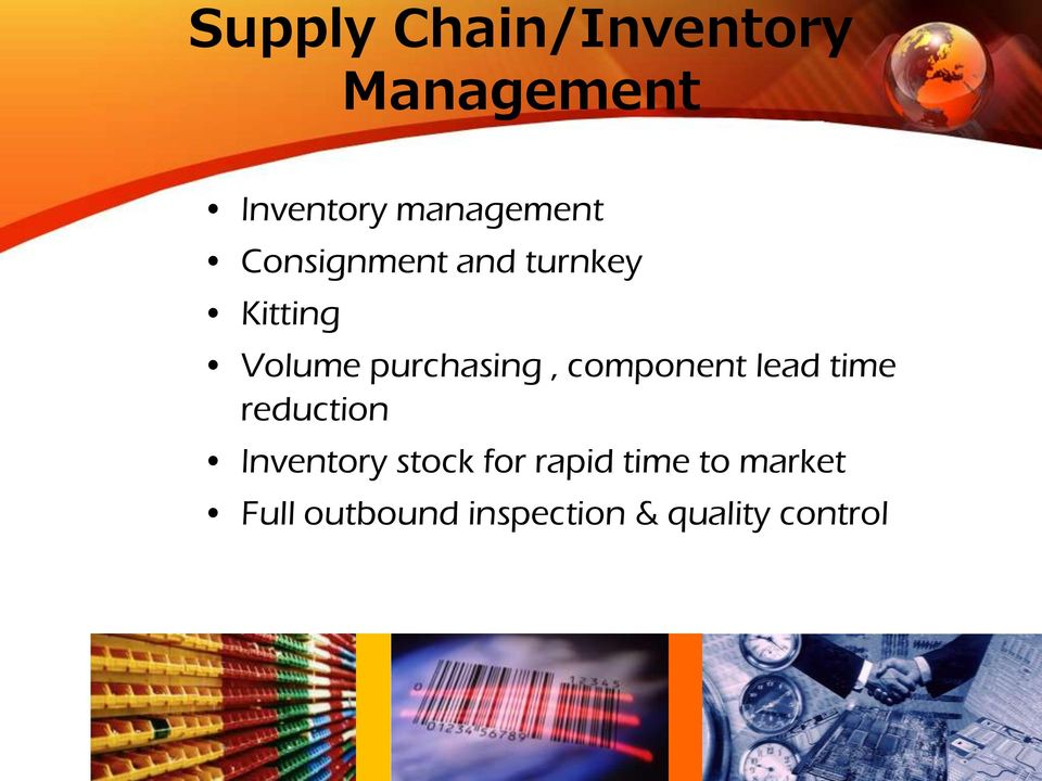 component lead time reduction Inventory stock for