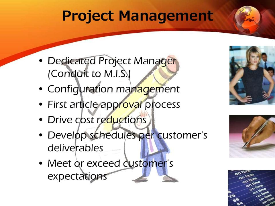 ) Configuration management First article approval