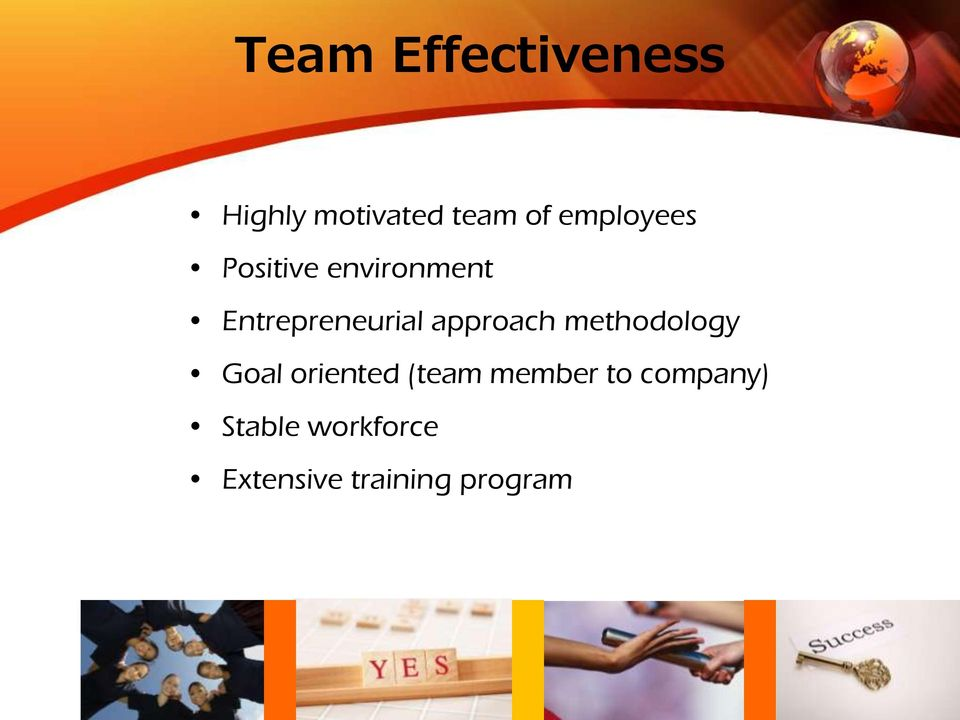 approach methodology Goal oriented (team member