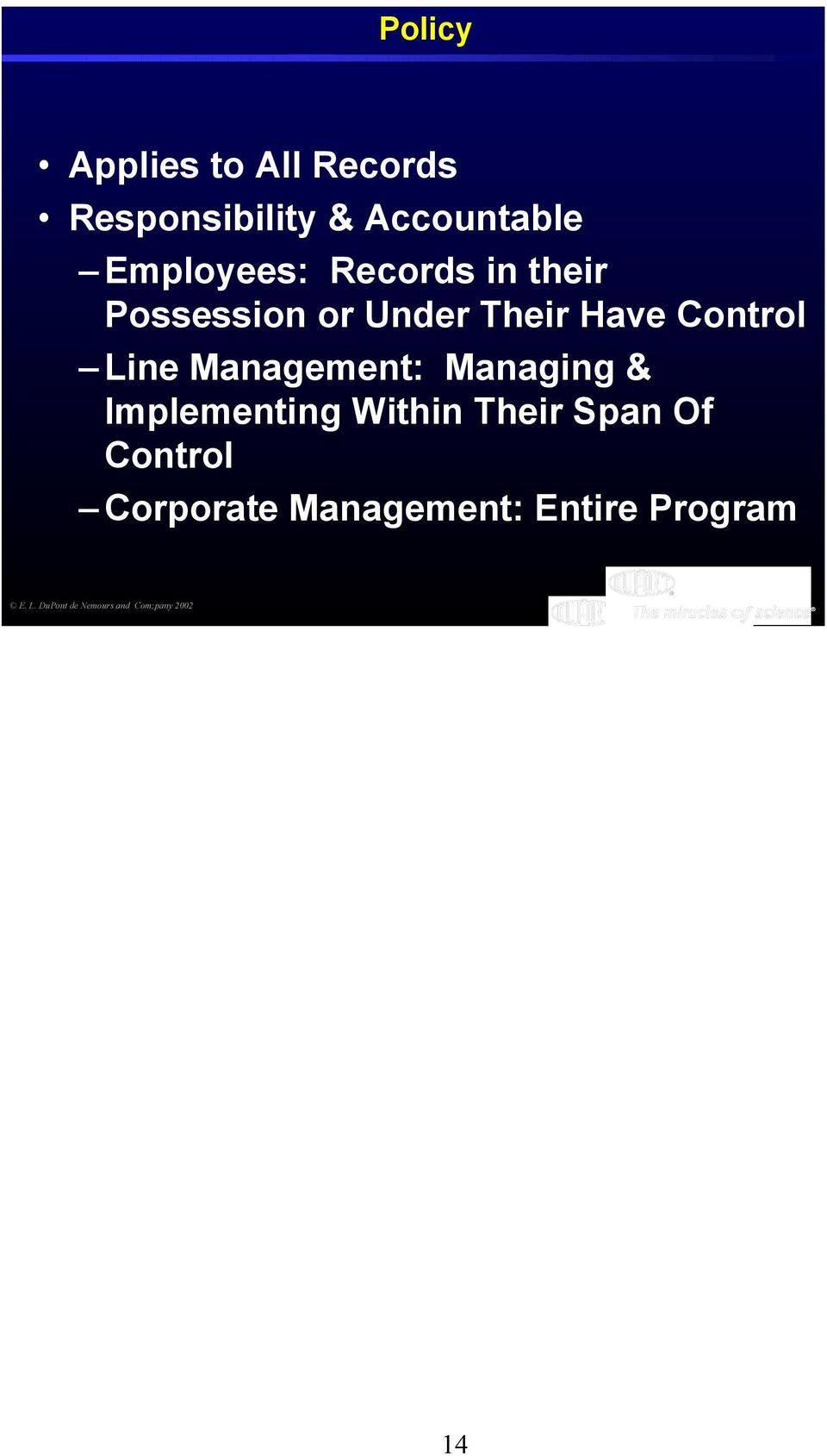 Management: Managing & Implementing Within Their Span Of Control