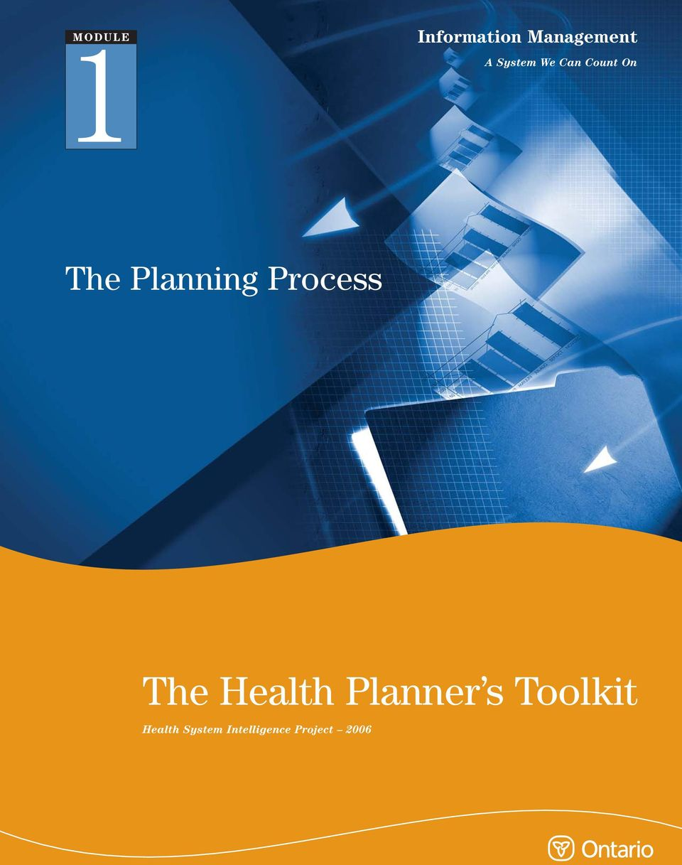 Process The Health Planner s Toolkit