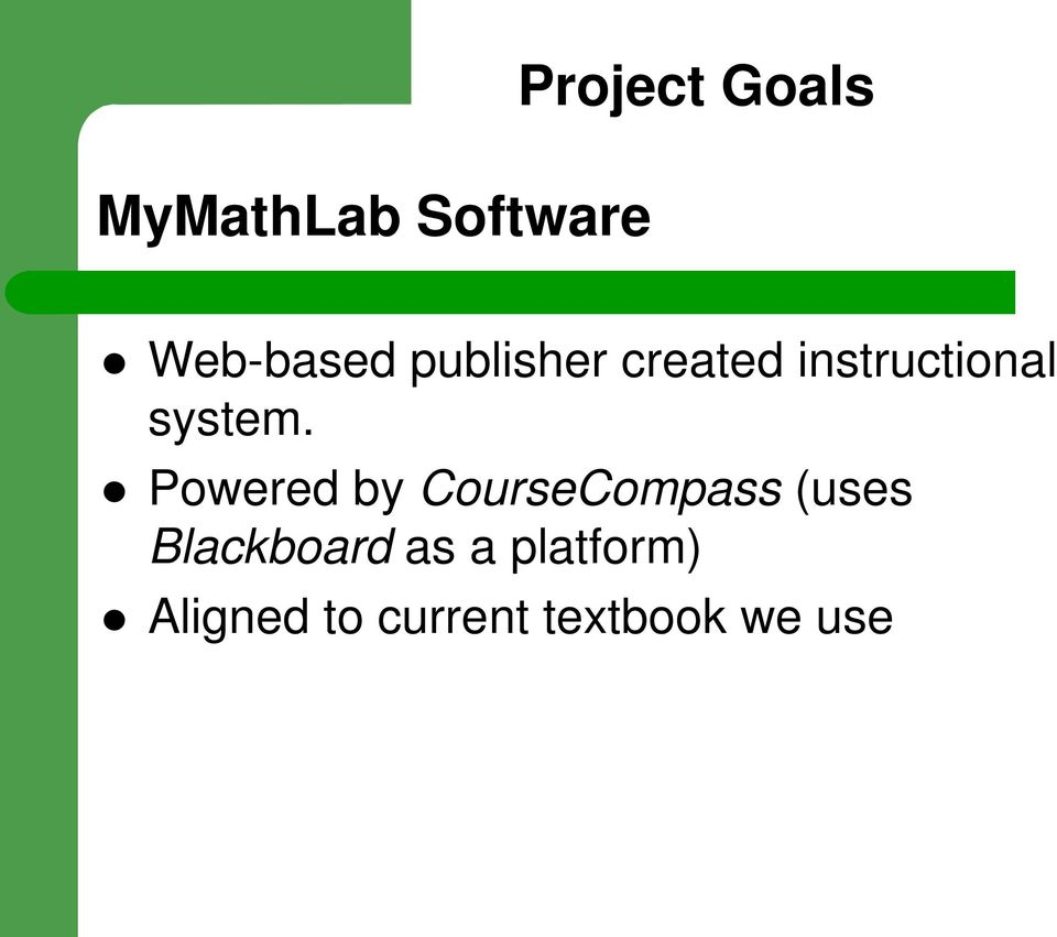 Powered by CourseCompass (uses Blackboard