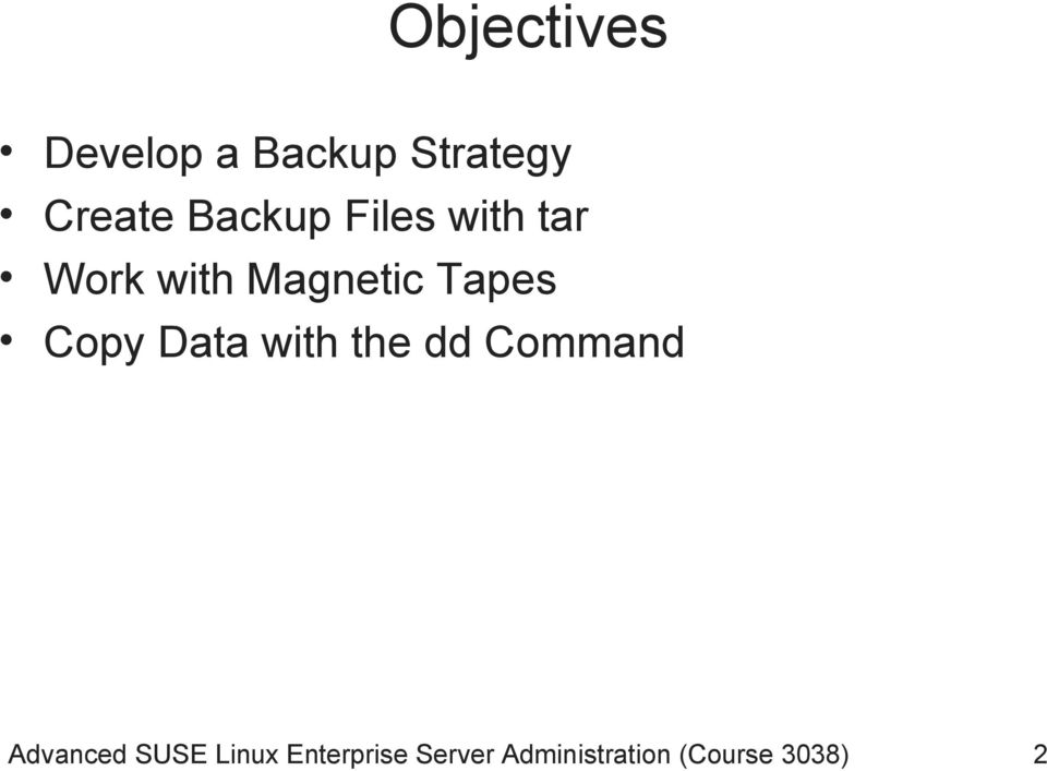 Copy Data with the dd Command Advanced SUSE