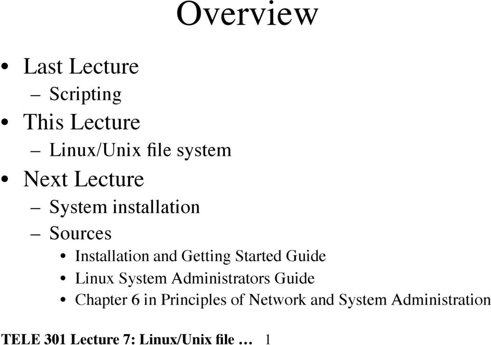 Started Guide Linux System Administrators Guide Chapter 6 in