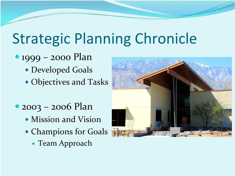 and Tasks 2003 2006 Plan Mission and