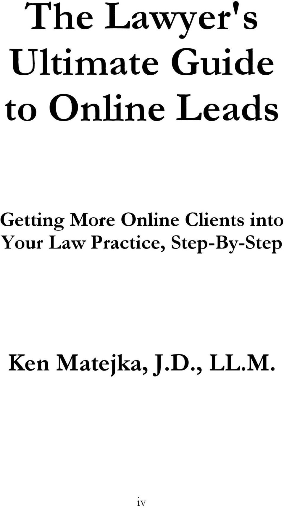 Clients into Your Law Practice,