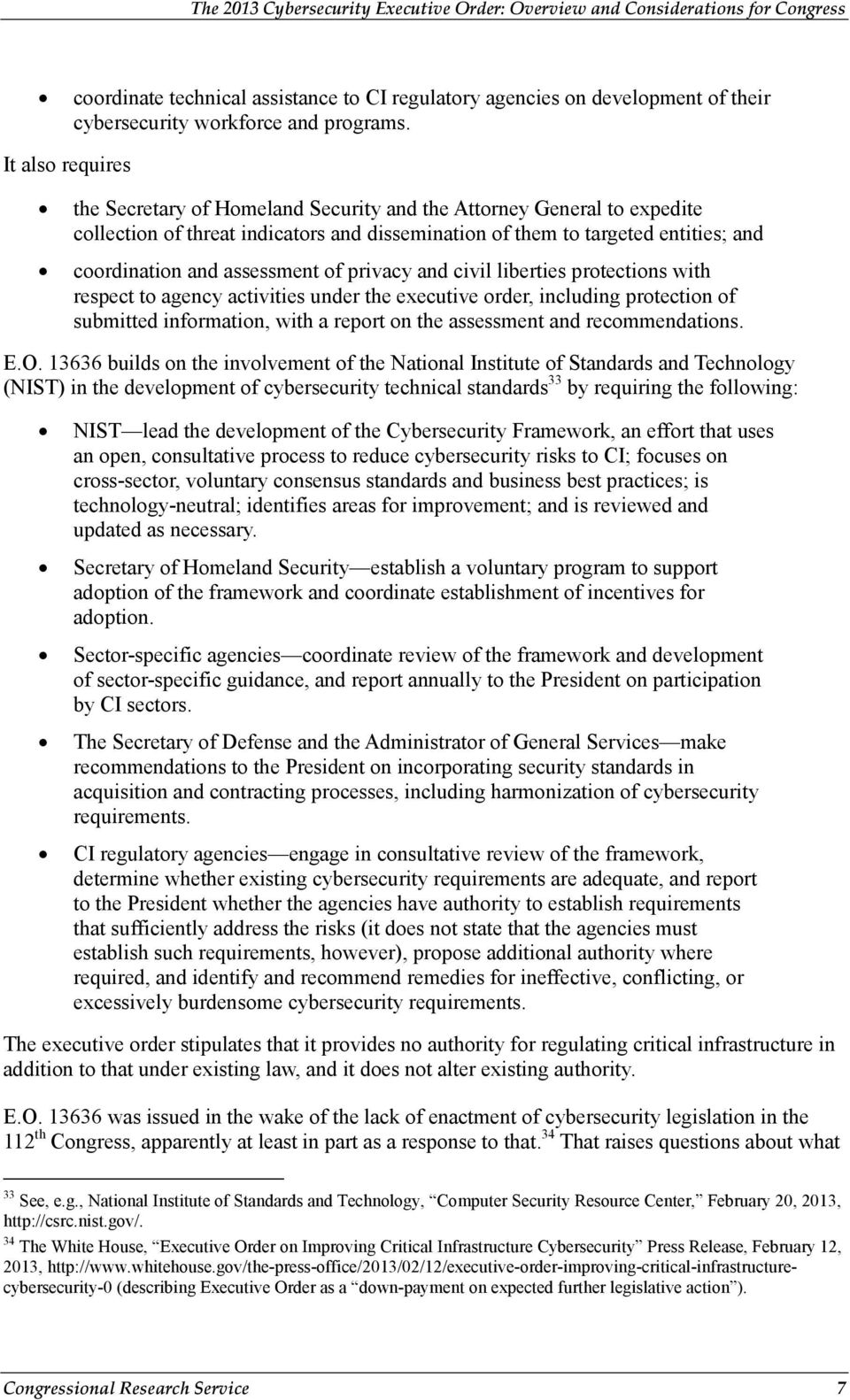 assessment of privacy and civil liberties protections with respect to agency activities under the executive order, including protection of submitted information, with a report on the assessment and