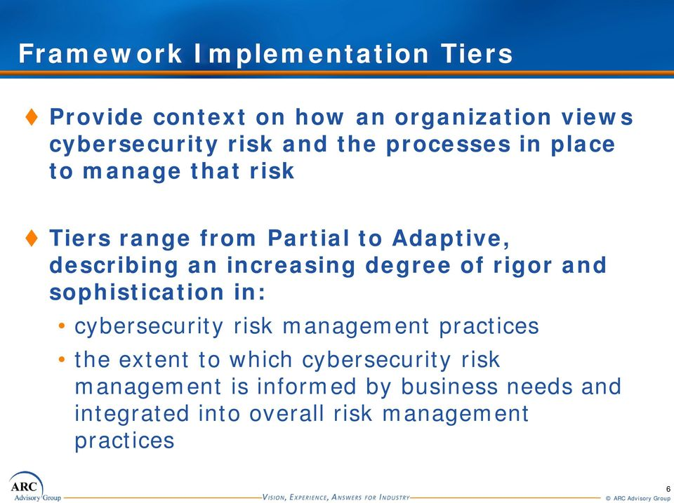 degree of rigor and sophistication in: cybersecurity risk management practices the extent to which