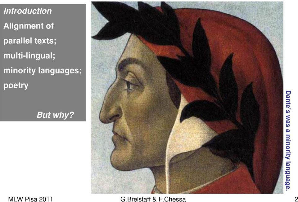 languages; poetry But why?
