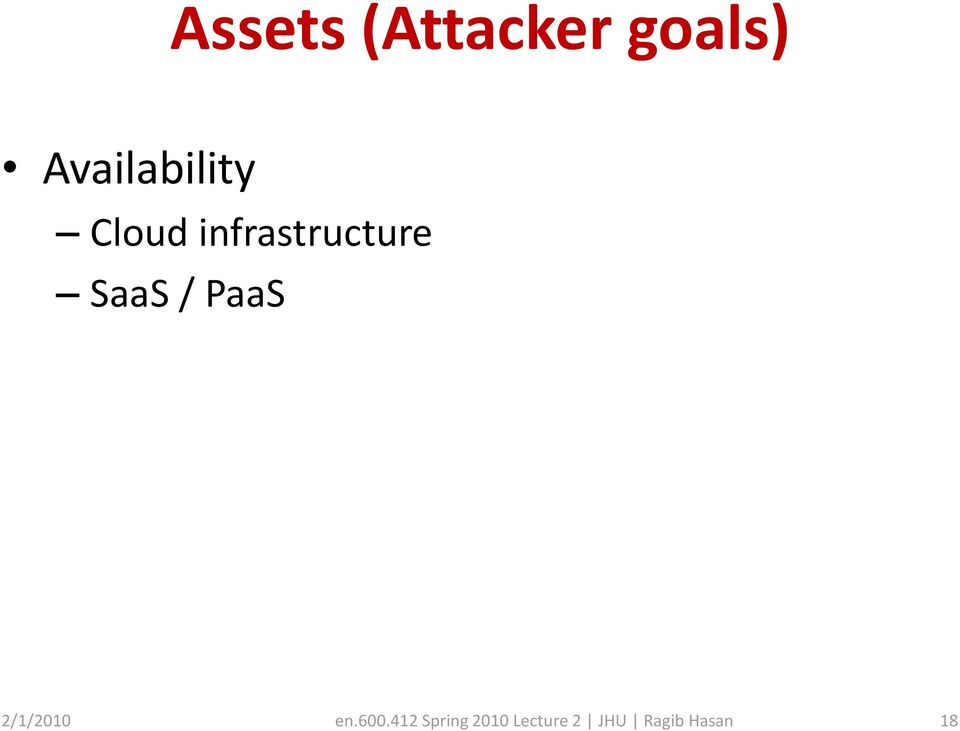 infrastructure SaaS / PaaS
