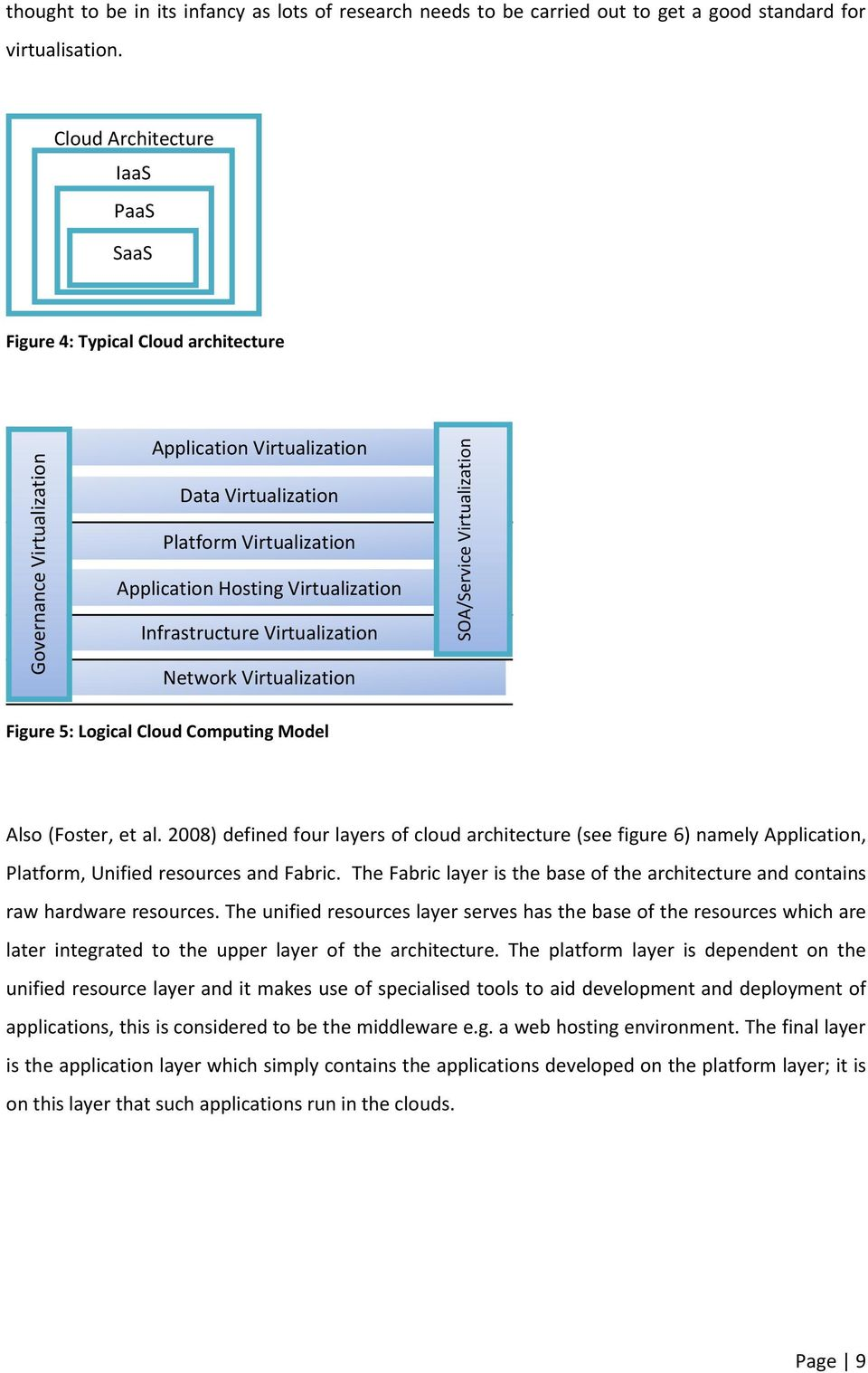 Virtualization Network Virtualization Figure 5: Logical Cloud Computing Model Also (Foster, et al.