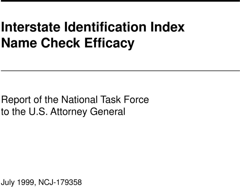 National Task Force to the U.S.