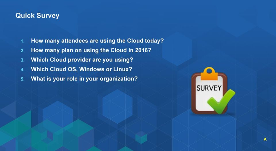 How many plan on using the Cloud in 2016? 3.