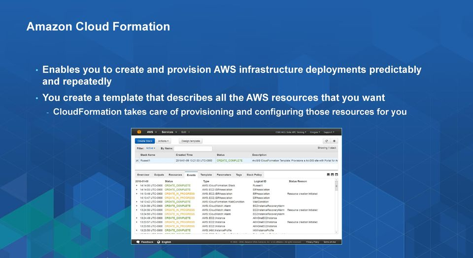 template that describes all the AWS resources that you want -