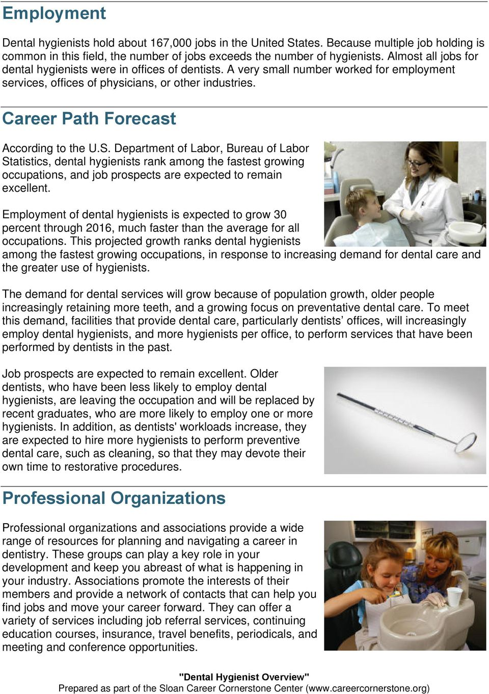 Career Path Forecast According to the U.S.