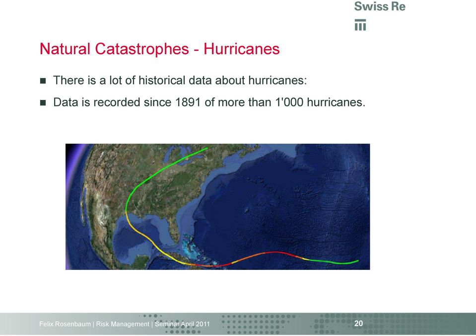 about hurricanes: n Data is recorded