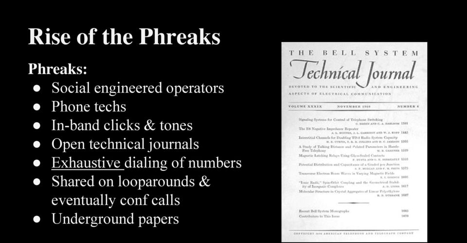 technical journals Exhaustive dialing of numbers