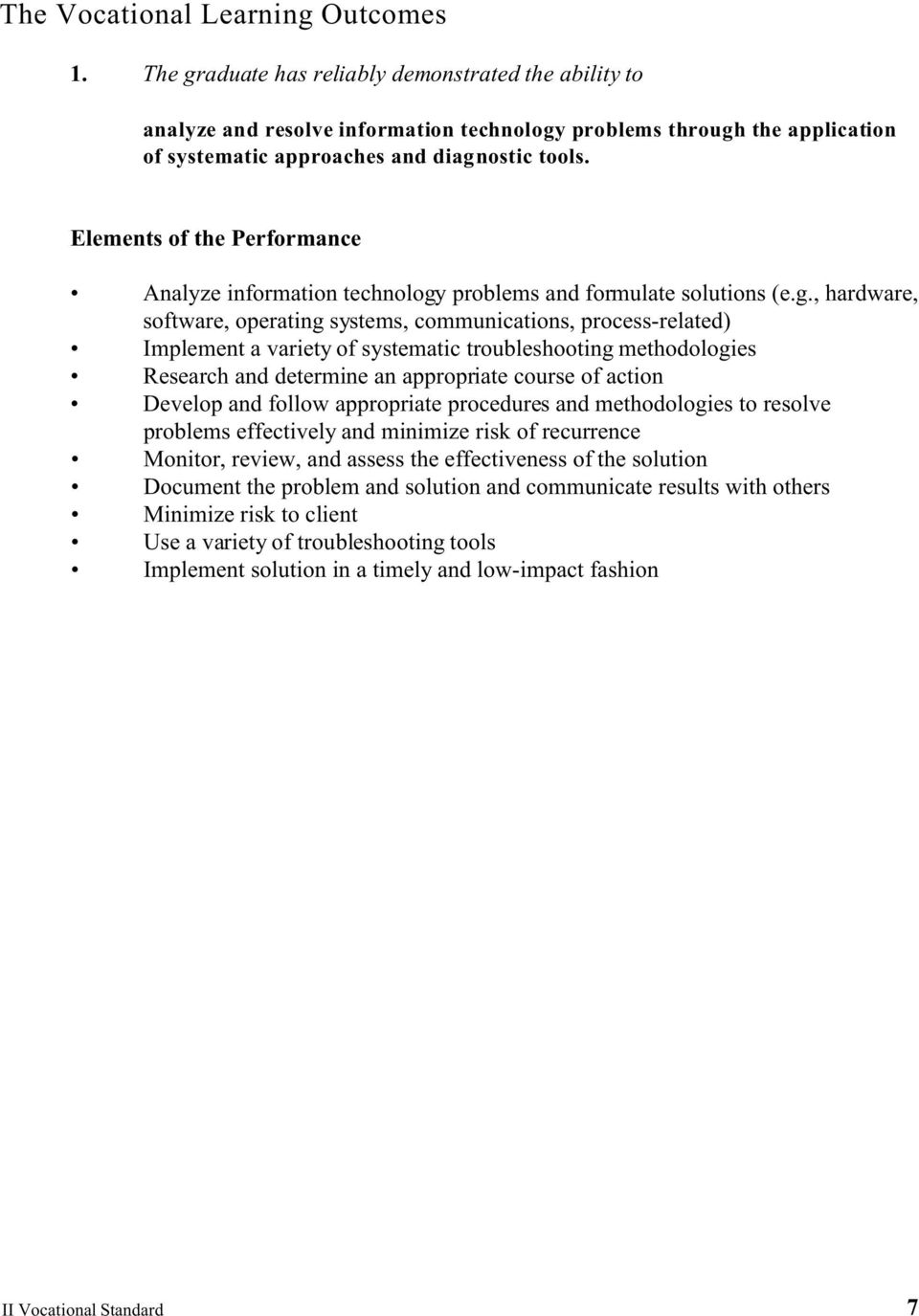 Elements of the Performance Analyze information technology