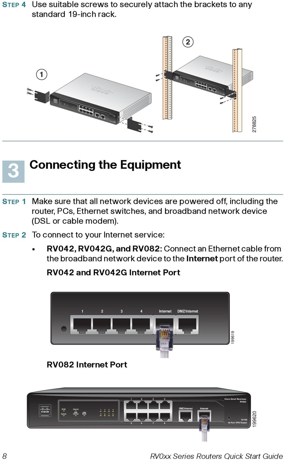 Ethernet switches, and broadband network device (DSL or cable modem).