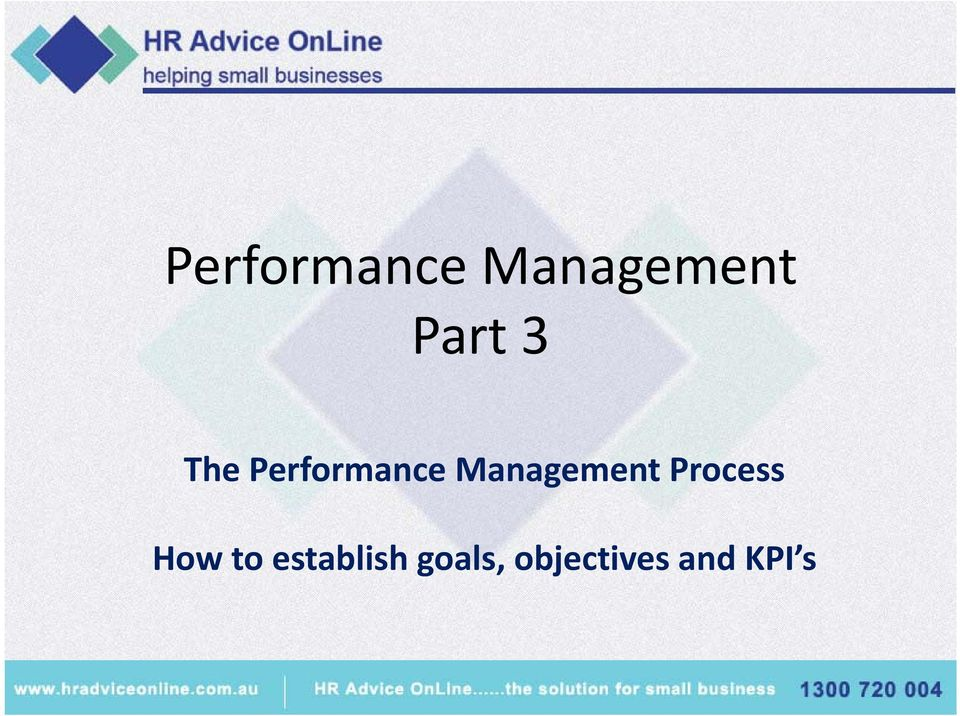 Management Process How to